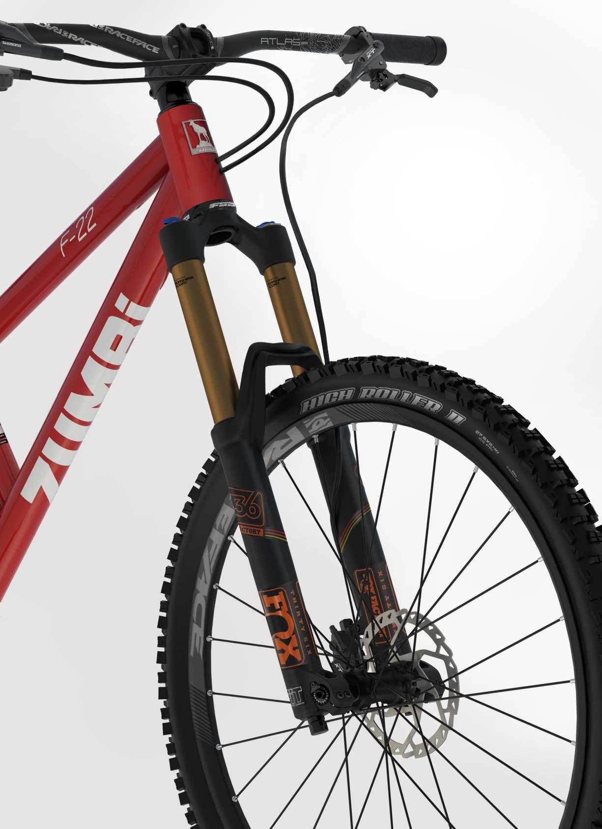 BIKE F22 / 27.5 / FOX / red - Zumbi Cycles